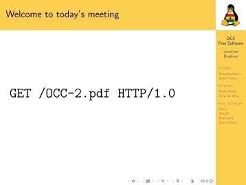Obroni Computer Club -- Free Software - Joachim Breitner