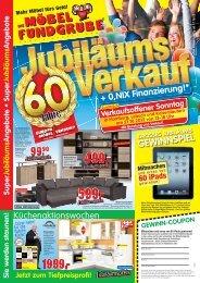 Super Jubiläums-Angebote! - Möbel Fundgrube Martin Eckert GmbH