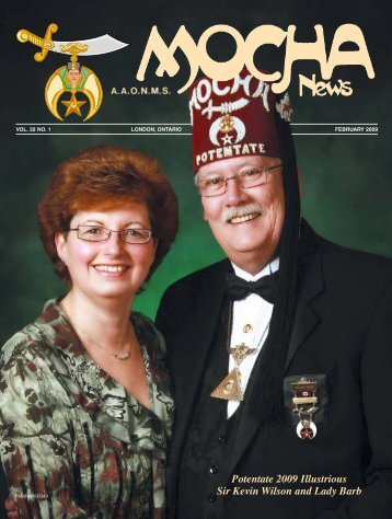 Potentate 2009 Illustrious Sir Kevin Wilson and Lady - Mocha Shriners