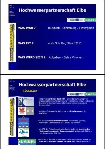 Hochwasserpartnerschaft Elbe Hochwasserpartnerschaft ... - LABEL