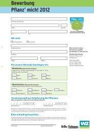 Bewerbung Pflanz' mich! 2012 - Westdeutsche Zeitung
