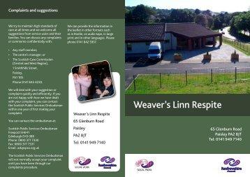 Weaver's Linn Respite - Renfrewshire Council