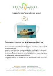 Erleben Sie den Traum Queen Mary 2 - Reisebüro Töpfer