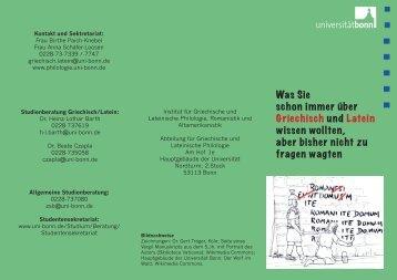 Was Sie schon immer über Griechisch und Latein ... - Universität Bonn