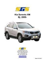 Felgen Programm Kia Sorento XM Bj. 2009 - SGS