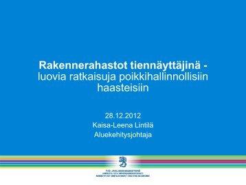 luovia ratkaisuja poikkihallinnollisiin haasteisiin - Rakennerahastot.fi