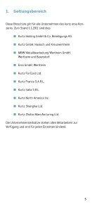 Unternehmensleitsätze - beim Kurtz Ersa Konzern - Seite 5