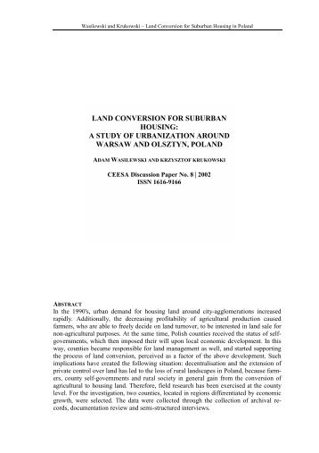 land conversion for suburban housing: a study of ... - SSOAR