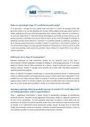 Zunanje izvajanje storitev - vprašanja in odgovori - S&T Slovenija d.d.