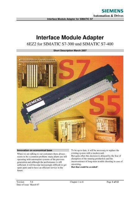 Interface Module Adapter - Siemens