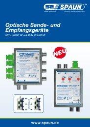 Optische Sende- und Empfangsgeräte - Spaun