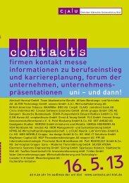 Katalog contacts 2013 - Christian-Albrechts-Universität zu Kiel
