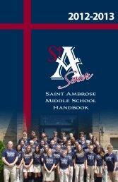 Saint Ambrose Middle School Handbook 2012-2013
