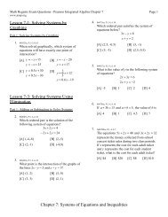 Chapter 7: Systems of Equations and Inequalities Lesson 7-1 ... - JMap