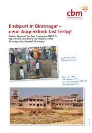 Endspurt in Biratnagar – neue Augenklinik fast fertig!