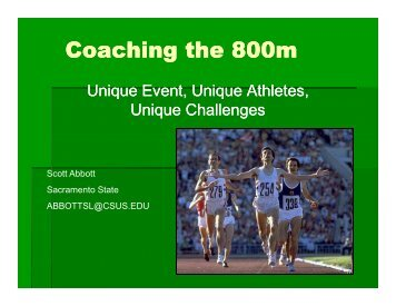 Coaching the 800m - USTFCCCA