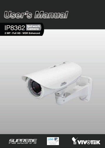 Vivotek IP8362 User's Manual - Use-IP