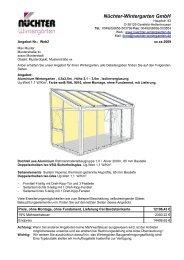 Aluminium Wintergarten, detailliertes Angebot (.pdf) - Nüchter ...