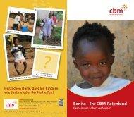 Benita – Ihr CBM-Patenkind
