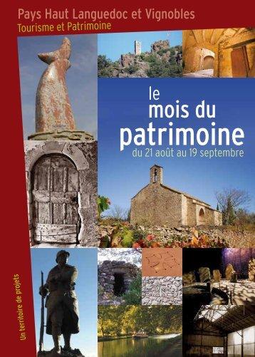 patrimoine - Pays Haut Languedoc et Vignobles