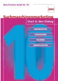 Suchmaschinenmarketing –> Start in den Dialog