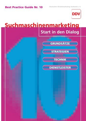 Suchmaschinenmarketing –> Start in den Dialog