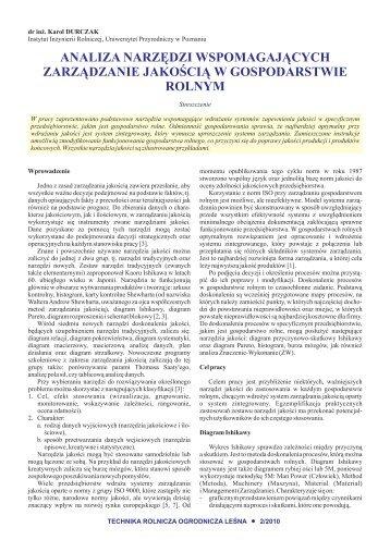 Analiza narzędzi wspomagających zarządzanie jakością w ...