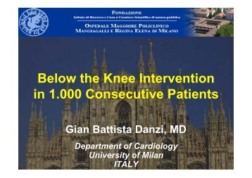 Below the Knee Intervention in 1.000 Consecutive ... - summitMD.com
