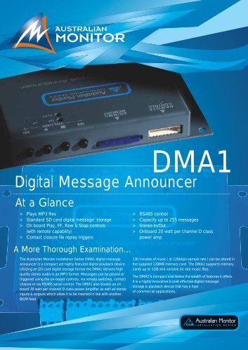 Digital Message Announcer - Polar Audio