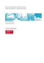 Employment Land Review final report - South Derbyshire District ...