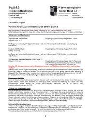 Informationen für die Jugend-Verbandsspiele 2013 im Bezirk 6 - WTB