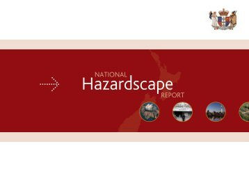 factors that influence the hazardscape - Ministry of Civil Defence and ...