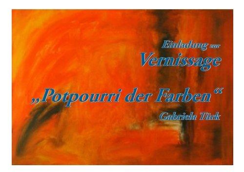 "Vernissage ""Potpourri der Farben"" - topkulturevents"