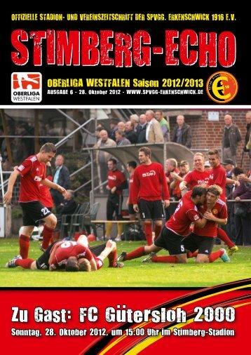 Stimberg-Echo FC Gütersloh 2000 - SpVgg Erkenschwick