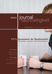 journal nachhaltigkeit 4/09 – aktuelle Ausgabe des Magazins - ÖGUT