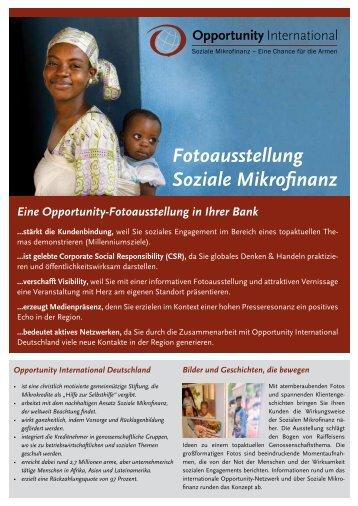 Bankausstellung-Kurzinfo - Opportunity International Deutschland