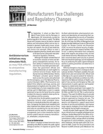 Manufacturers Face Challenges and Regulatory Changes