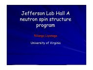 Jefferson Lab Hall A neutron spin structure program - University of ...