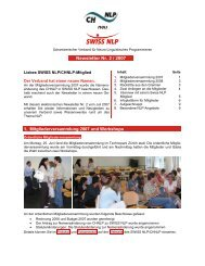 Newsletter Nr. 2 / 2007 - Swiss NLP