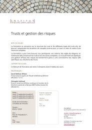 Trusts et gestion des risques - trusts.ch