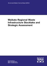 Waikato Regional Waste Infrastructure Stocktake and Strategic ...