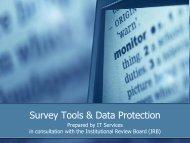Survey Tools & Data Protection - Units.muohio.edu