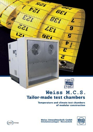 Weiss M.C.S. Walk in temperature and climate chambers with ...