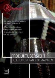 Produktübersicht Leistungstransformatoren - Ruhstrat GmbH