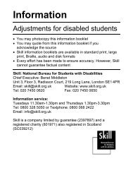 Reasonable adjustments for disabled students - Trailblazers