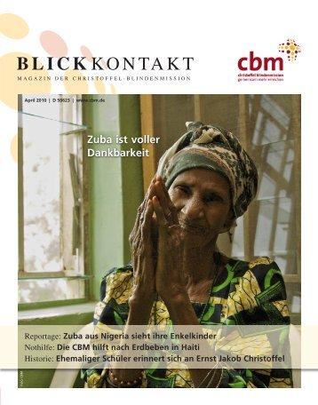 Helfen Sie mit! Haiti - Christoffel-Blindenmission