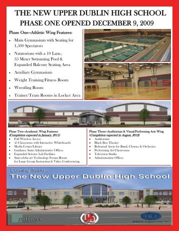 Phase One - The New Athletic Wing - Upper Dublin School District