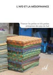 L'AFD ET LA MéSOFINANCE - Agence Française de Développement