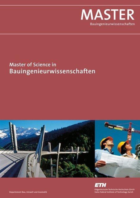 MASTER - Departement Bau, Umwelt und Geomatik - ETH Zürich