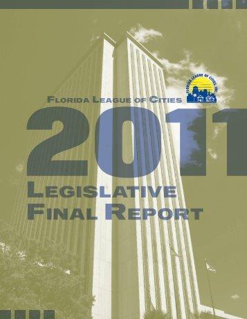 LegisLative FinaL RepoRt - Florida League of Cities
